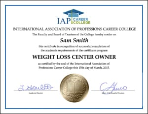 CERTIFICATE-weight-loss-center