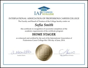 Home Stager Certificate