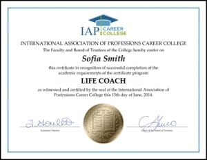 Certificate-LIF