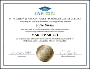 Makeup artist training online
