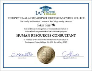 HR-consultant-certificate