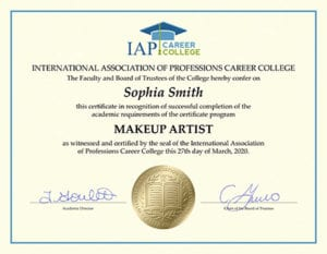 Makeup Artist Certificate Online