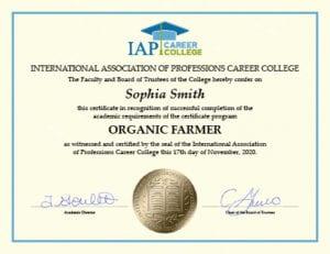 Organic Farmer Certificate Course Online
