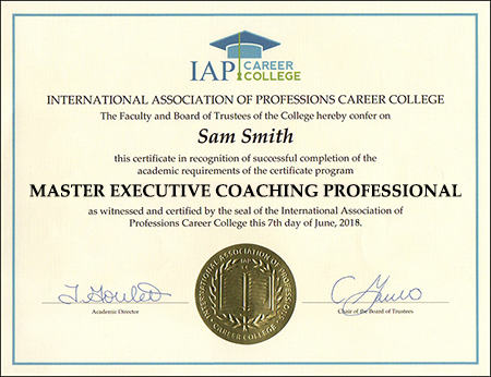 Executive Coach Master Professional Certification Course