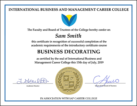 Business Decorating Short Course