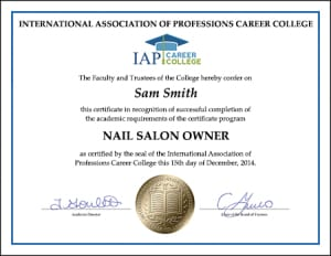 Certificate-NAIL-SALON-OWNER