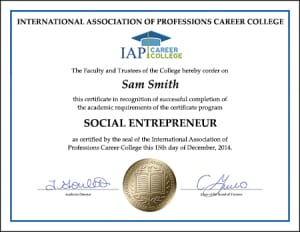Certificate-SOCIAL-ENTREPRENEUR