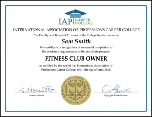 Become a fitness club owner print book fitness club owner certificate yelopaper