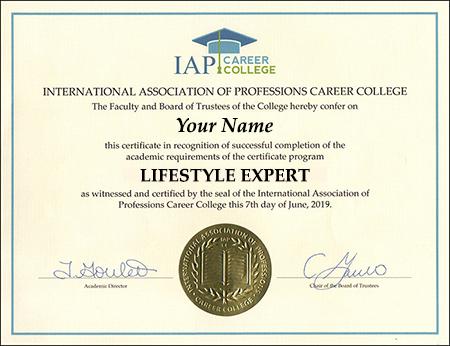 sample-certificate-lifestylist-lifestyle-expert-guru-influencer-entrepreneur-manager-coach-consultant