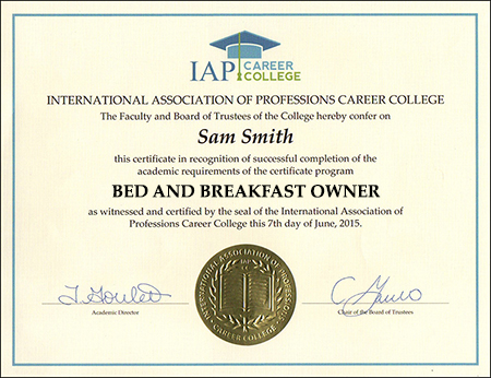 sample-certificate-bed-and-breakfast-certification-course-online