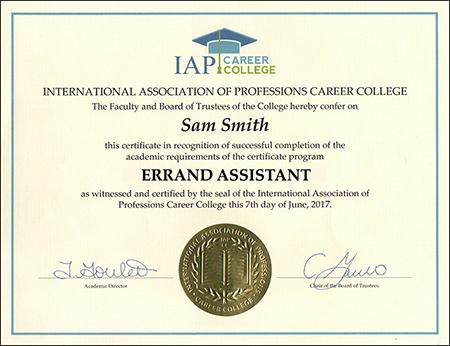 sample-certificate-errand-assistant-certificate-course-online