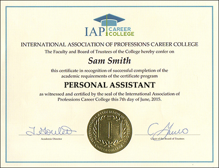 sample-certificate-personal-assistant-certification-course-online