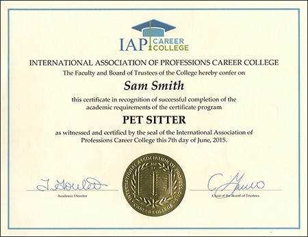 sample-certificate-pet-sitter-certification-course-online