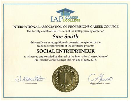 Social Entrepreneur Certificate Course Online