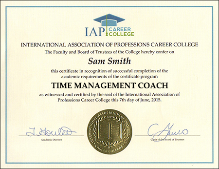 Time Management Certificate Course Online